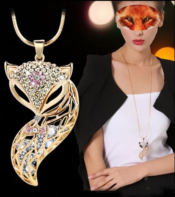élégant collier avec pendentif, pour femme, de la collection *le renard*, en vente chez Zappandoo.