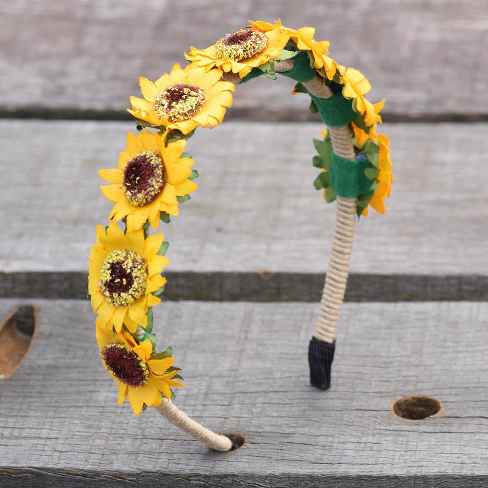 De la collection tournesol, bijoux de tête tendance  pour femme, en vente sur Zappandoo.