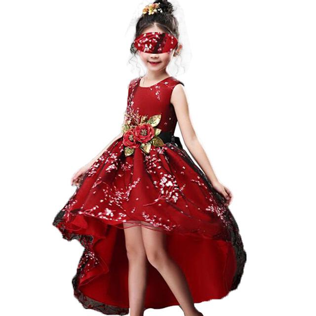 Robe longue et chic, de luxe pour enfants lors d'un mariage et une cérémonie. En vente sur Zappandoo.