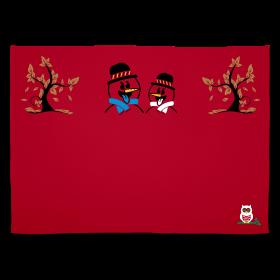 Plaid rouge et imprimé de la chouette