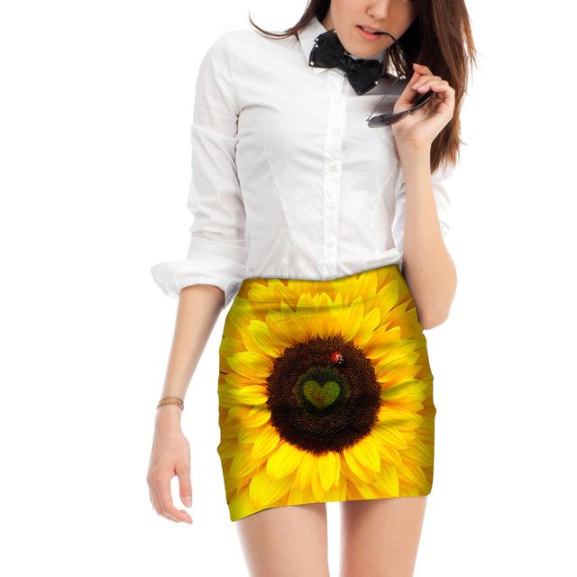 Nouveau sur Zappandoo: la Jupe tendance imprimés Tournesol pour femme.