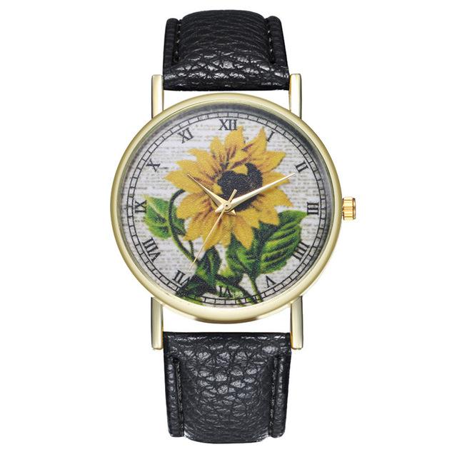 De la collection tournesol, une montre originale et  tendance pour femme, en vente sur Zappandoo.